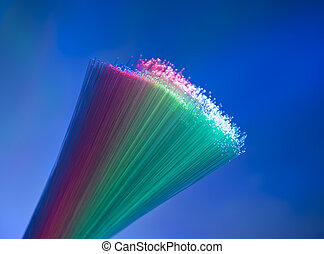 Abstract Internet technology fiber optic background