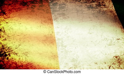 Ivory Coast Flag Waving, grunge look