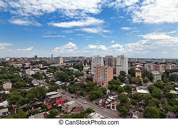 View of the Russian city of Samara in