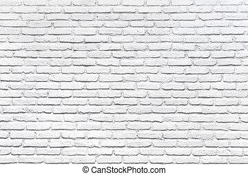 branca, tijolo, parede, fundo