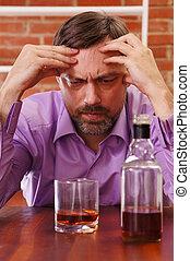 man gets drunk