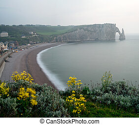 View of Etretat