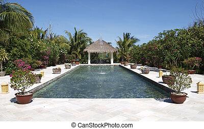 Fountain      - Fountain in the garden