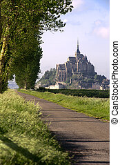 View of Mont saint michel in France