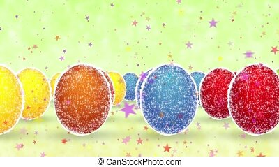 Easter eggs - Multi-colored shining Easter eggs