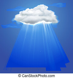 Rays coming out of cloud