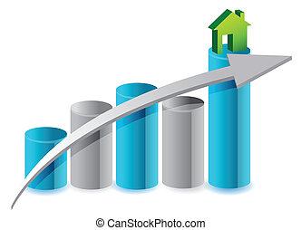 up house market illustration design