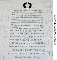 From Jefferson to Kercheval - Inscription on the southeast...