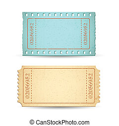 Blank Ticket - illustration of blank ticket with copy space