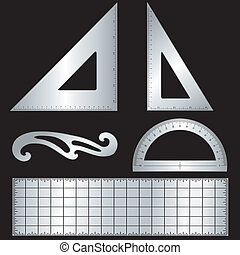 Metal Drafting Tools - Metal drafting tools for architecture...