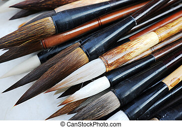 Brush pens - Group of Chinese brush pens for calligraphy