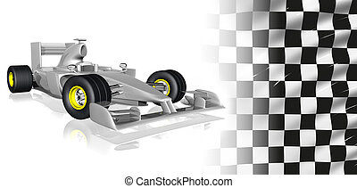 f1 - 3d illustration of f1 car