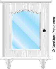 dresser white glass