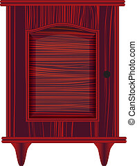 dresser with maroon