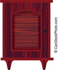 dresser with maroon