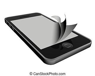 smartphone - 3d new technology illustration