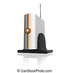 modem - Wireless Router Vector illustration