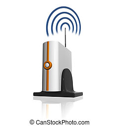 modem  - Wireless Router. Vector illustration