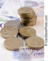British Coins and Notes - British coins and notescash GBP -...