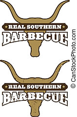 Barbecue Symbol/Icon - Real Southern Barbecue Illustration