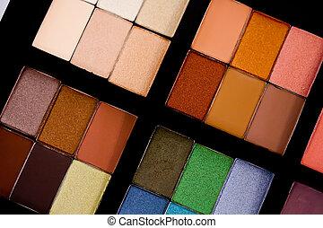 Eye Shadow Palette - multiple shades of eye shadows in a...