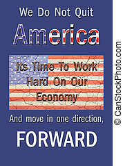 Move America Forward - Poster style, cracked, aged american...