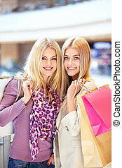 Buyers - Beautiful girls with shopping bags