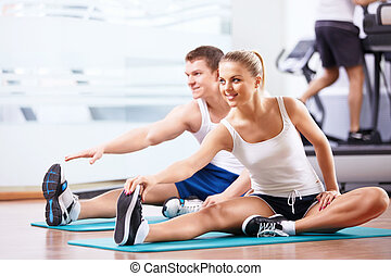 Healthy life - Young people in the fitness club