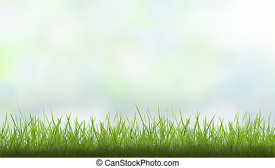 spring background with grass and colorful sky