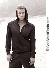 Male fashion model - Gorgeous male model fashion portrait