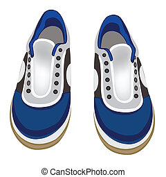 Atheletic footwear on white background - Illustration...