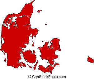 Map of Danmark