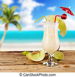 Pina, colada, Bebida