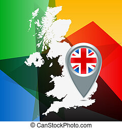 Olympic geo location background - Olympic set for location...
