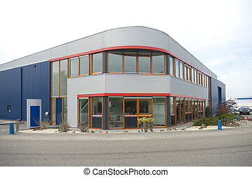 modern office building - small modern office building on the...