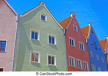 Beautiful colorful houses in Fussen, Bavaria, Germany