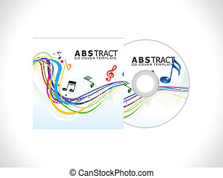 abstract cd cover template vector illustration
