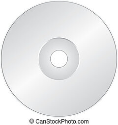 CD or DVD on white - Vector