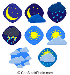 Vector weather set on white. Eps10