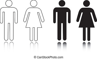 Restroom icon male and female - Vector