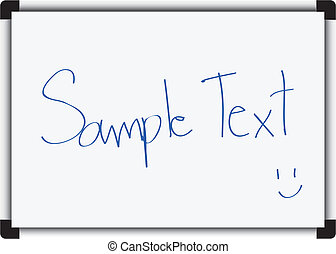 White board isolated on white