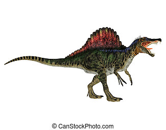 Spinosaurus - Illustration of a Spinosaurus dinosaur species...