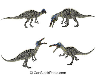 Suchomimus Pack - Illustration of a pack of four (4)...
