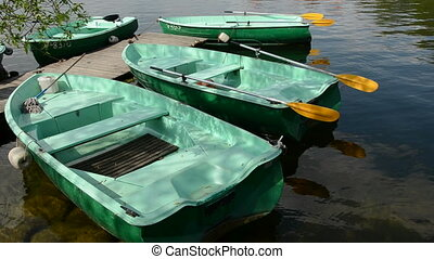 boats on the lake water