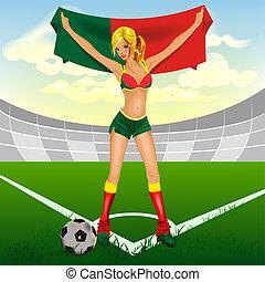 portuguese girl soccer fan