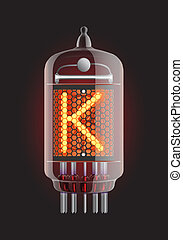 """Nixie tube indicator. - ixie tube indicator. Letter """"K"""" from..."""