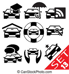 Car part icon 13 - Car part icon set 13 Vector Illustration...