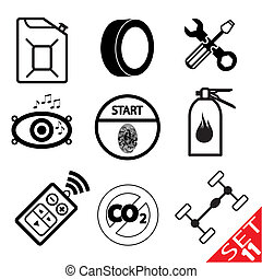 Car part icon 11 - Car part icon set 11 Vector Illustration...