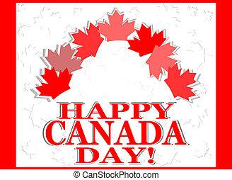 Happy Canada Day vector card