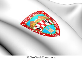 Flag of Chihuahua State, Mexico Close Up
